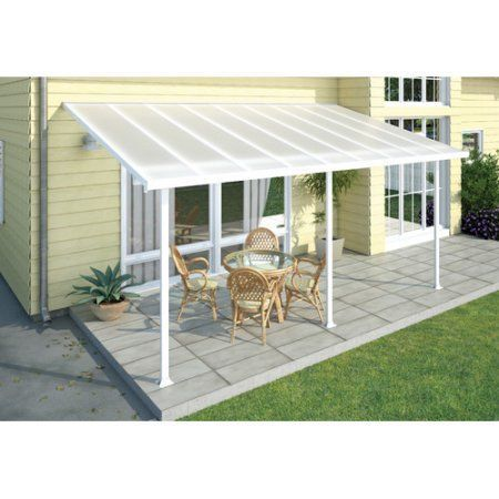 Palram Feria 20 X 10 Patio Cover White Walmart Com Patio Awning Patio Canopy Pergola Patio