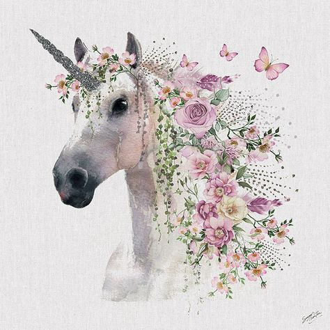 Summer Thornton (Unicorn) boho watercolour painting. Head to artgroup.com to view all metallic prints, canvas and art prints in Summer's wall art collection brought to you by The Art Group.