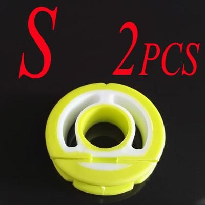 2Pcs Round Silicone Line Holders Fishing Tool Main Line Leader Rig - line leader