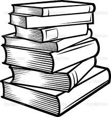 stack of books clip art | of Books Clip Art Image - black and white ...