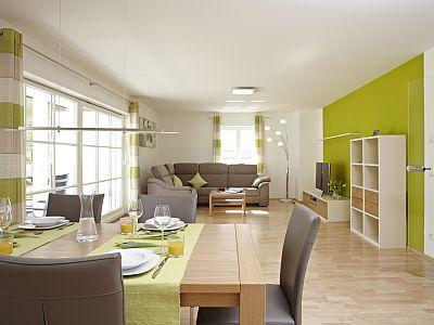 Beim Schofer Bad Hindelang - Wohnzimmer mit offener Küche und - wohnzimmer mit offener küche