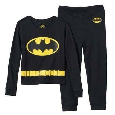 BATMAN 4 8 10 Boys PAJAMAS PJS Shirt Pants Long Sleeve 2 Piece DC COMICS