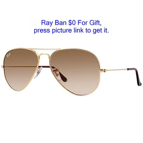 63e17a4590 Ray-Ban Aviator Gradient Gold