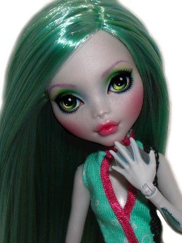 ☠ OOAK Custom Monster High Doll Repaint Lagoona Blue Goth BJD Sea Monster ☠ | eBay