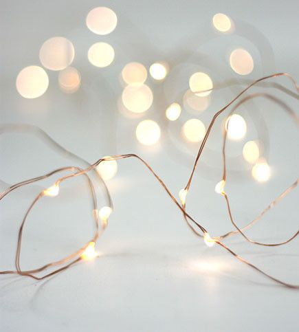 Fairy Lights Warm White Copper love it Pinterest
