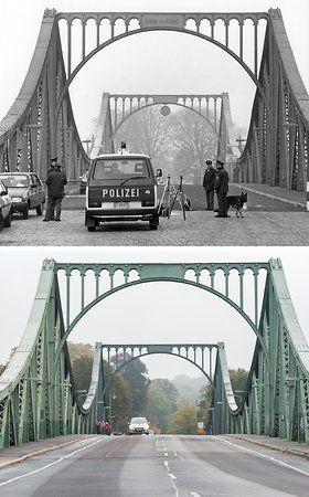 Kontrolle Westberliner Polizisten Am 10 03 1988 Vor Den Zum Teil Beschadigten Grenzanlagen Auf Dem Westlichen Teil Der Berlin Berliner Mauer Berlin Geschichte