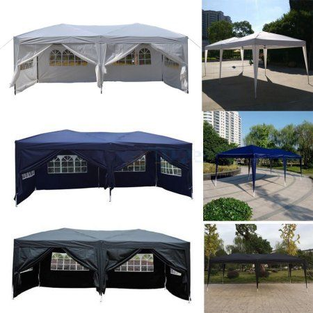 Zimtown 10 X 20 Patio Ez Pop Up Party Tent Wedding Gazebo Canopy Marquee 6 Walls Outdoorweddings Gazebo Gazebo Canopy Party Tent