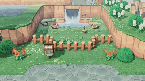"elliott ""work in progress of my duck pond area"" Animal Crossing 3ds, Animal Crossing Villagers, Animal Crossing Qr Codes Clothes, Animal Crossing Pocket Camp, Pato Animal, My Animal, Tier Wallpaper, Animal Wallpaper, Photo Wallpaper"