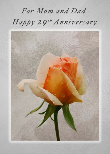 Happy 29th Anniversary For Mom And Dad Fresh Rose Card Ad Affiliate Anniversary Happy 54th Anniversary Happy 41st Anniversary Happy 10th Anniversary