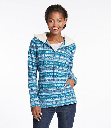 Women's Fair Isle Fleece-Knit Printed Jacket (Other Colors ...