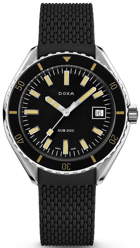Doxa Watch Sub 200 Sharkhunter Rubber  799.10.101.20 Watch