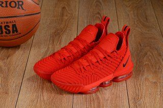 20f4673d727568 Free Shipping Nike LeBron 16 October Red Black Men's Basketball Shoes James  Shoes
