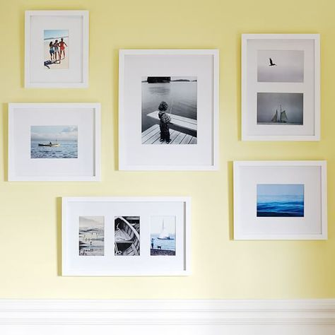 Gallery Frames, Gallery In A Box, Set of 6, Modern White | House ...