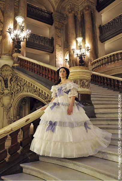 a totaly lovely ballgown.sure a must have for the lovers of victorian fashion.