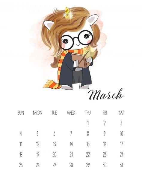 Calendario 2018 De Unicornios Para Imprimir Gratis Neseli Planner Sayfalari Ajandalar