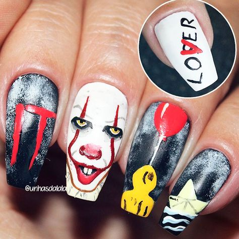Spooky Halloween Coffin Nails! #halloween #halloweennails #halloweennailart  #blacknails