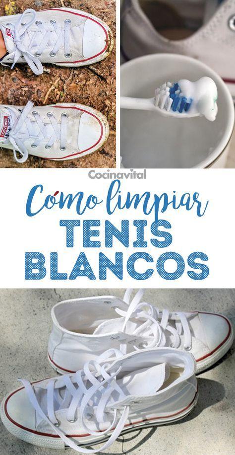 Cómo limpiar tenis blancos de tela en seco   Limpiar