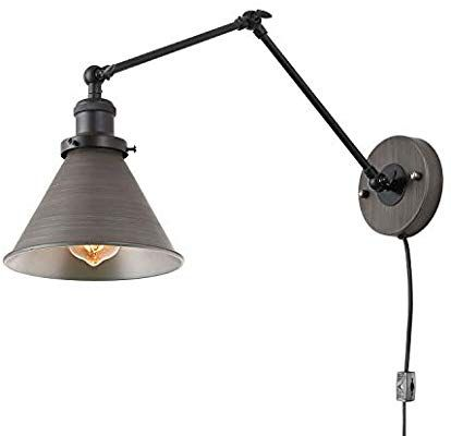 Lnc Swing Arm Wall Lamp Adjustable Wall Sconces Plug In Sconces