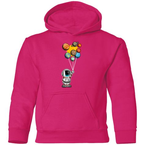 7.75-ounce, 50% cotton, 50% polyester No drawcord on kids' hoodies We suggest ordering one or two sizes up for a fuller fit; Please refer to size chart for actual garment measurements Decoration type: Digital Print Size Chart