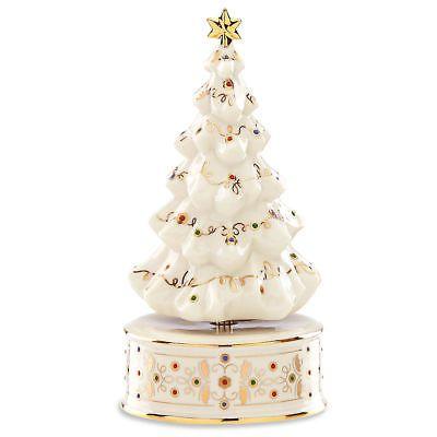 Jews Christmas Trees.Lenox China Jews Christmas Tree Musical Figurine Lenox
