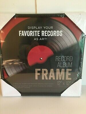 Black Vinyl Record Album Glass Frame 12 X 12 Lps Wall Display Sealed New Fashion Home Garden Homedcor Frames In 2020 Album Frames Vinyl Record Frame Wall Display