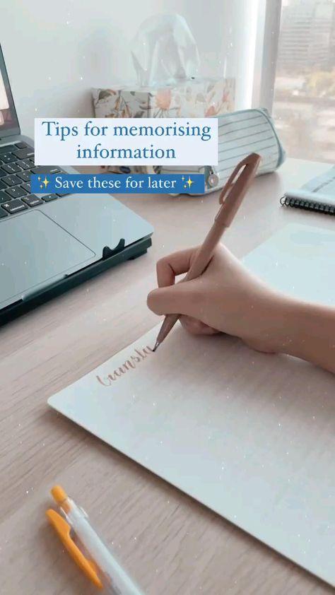 tips for memorising