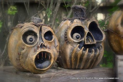 How to make tortured pumpkins from cardboard and papier mache...so AWESOME!