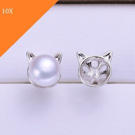 10 Pairs Pearl Earrings Mountings Findings Settings Jewelry Diy 004e1p