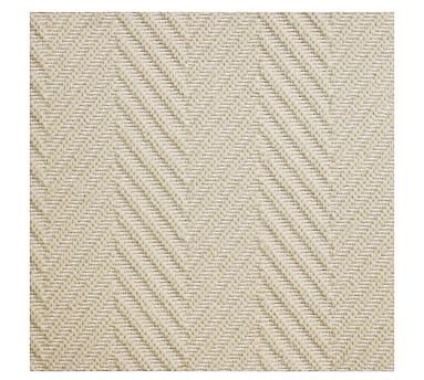 Fibreworks Custom Textured Chevron Wool Rug Ivory