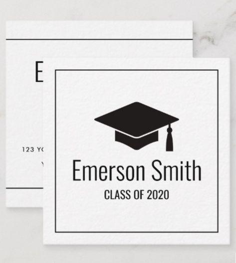 graduate graduation name card modern  zazzle  name
