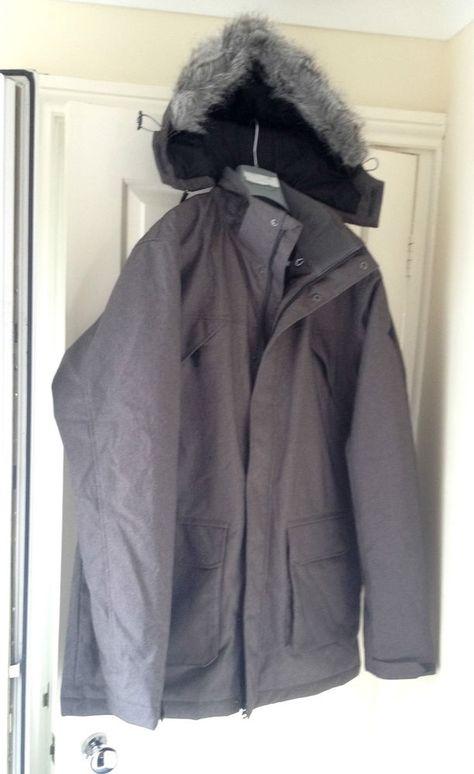 SOLD O Neill Parka Hooded Winter Journey Coat Grey