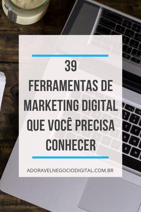 Trabalha com marketing digital? Veja essas 39 ferramentas... 24 delas são grátis. #produçãodeconteúdoredessociais #ferramentasredessociais #ideiasmarketingdigital #marketingdigital #internetmarketing #empreendedorismoideias #empreenderemcasa