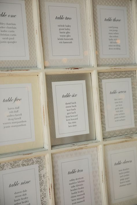 Handcrafted Wedding at Trolley Square ⋆ Ruffled window seating chart - photo by Pepper Nix Photograp