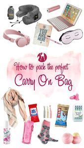 Packing the Perfect Long-Haul Carry On Bag  Whether you go carry-on only or you check a bag, if you're taking a long haul flight you're also going to want a smaller cabin bag to tote all your in-flight essentials. Getting this right can mean the difference between a comfortable flight and being miserable Packing the Perfect Long-Haul Carry On #Bag    This image has get 43 repins.    Author: Robin Law #Bag #Carry #LongHaul #Packing #Perfect