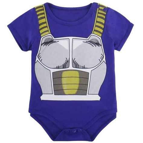 Dragon Ball Z Romper Vegeta Jumpsuits Infant Baby Cotton with Hat