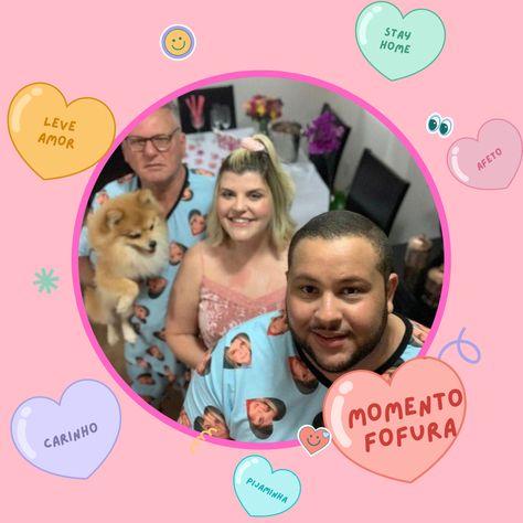 Momento fofuraa!!✨ Ficamos super felizes de participar de momentos tão especiais como esses. Registro cheio de amor e carinho da agredabreus comemorando seu niver em grande estilo 😍 🎂 . . . . . . . . . #bday #pijamapersonalizado #niveremcasa #pijaminhas #familiacombinando #petlover #pijamasfofos #leveamor #presentecriativo #lojafofa