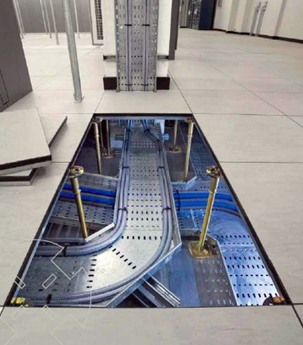 Access Floor Systems Consist Of Modular Panels Set On Pedestals Of Some  Type. Removal Of