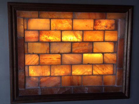 Himalayan Salt Brick Wall With Lighting Kit 10 Bricks 189 90 Salted Brick Himalayan Salt Frame Light