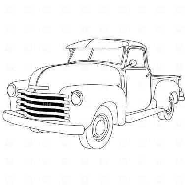 Resultado De Imagen Para Silver 1952 Ford Truck Dibujos De Autos Autos Para Dibujar Dibujos De Coches