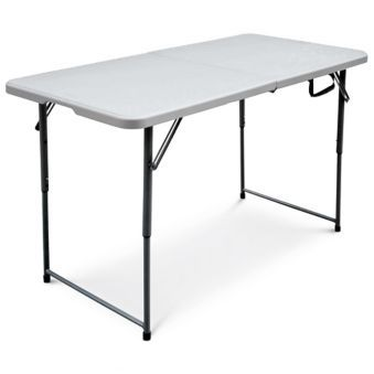 For Living Folding Table 4 Ft Canadian Tire Folding Table Camping Table Simple Storage