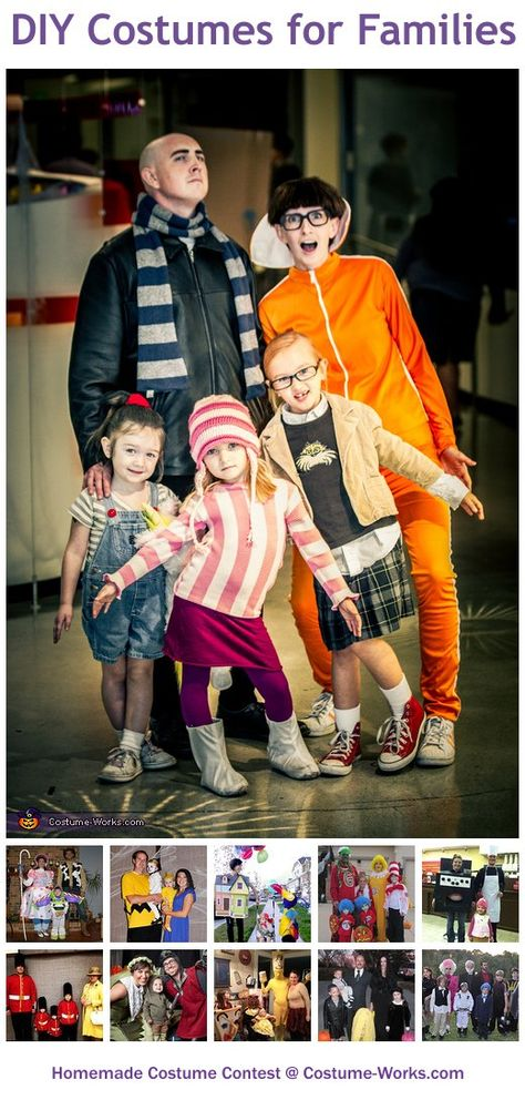 Homemade Costumes for Families - this website has tons of DIY costume ideas!