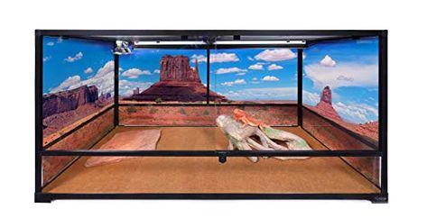 3-Sided Wraparound Carolina Custom Cages Reptile Habitat Background; Arches Park Avenue for 36Lx18Wx18H Terrarium