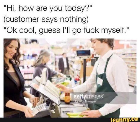 rude, customers