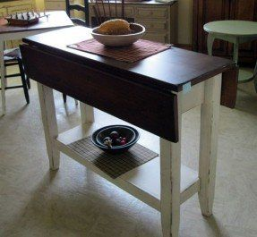 Drop Leaf Kitchen Island Table Dining Table With Storage Narrow