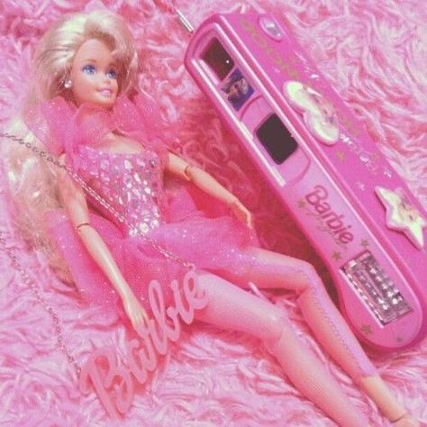 Barbie and camera Bedroom Wall Collage, Photo Wall Collage, Pink Wallpaper Iphone, Aesthetic Iphone Wallpaper, Barbie 90s, Pink Barbie, Donia, Pink Photo, Bad Girl Aesthetic