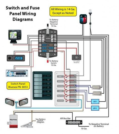 small 12 volt boat wiring diagram  boat wiring boat