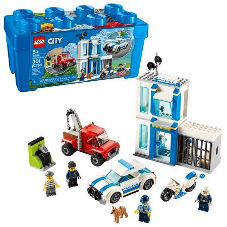 Lego City Police Brick Box 60270 Action Cop Building Toy For Kids 301 Pieces Walmart Com Lego City Police Lego City Lego City Police Sets
