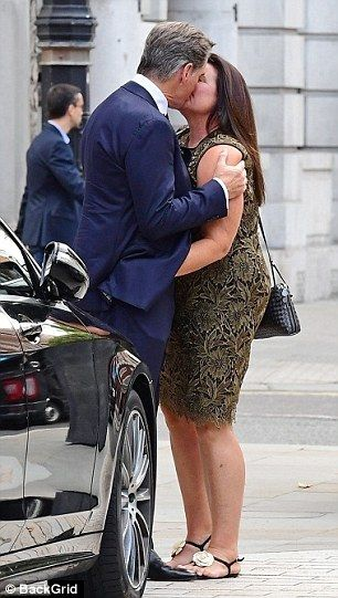 Pierce Brosnan Shares A Passionate Kiss With Wife Keely Shaye