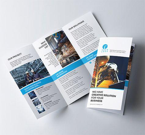 30 Creative Examples of Tri-Fold Brochure Designs Tri fold - gate fold brochure mockup