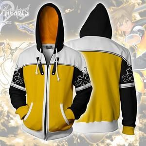 2019 Kingdom Hearts 3D Printed Sweatshirt Cosplay Costume Hoodie Zipper Coat New